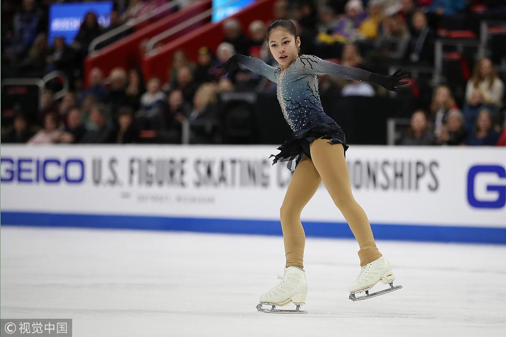美13岁华裔花滑新星曾在中国上学 当初学滑冰是因...