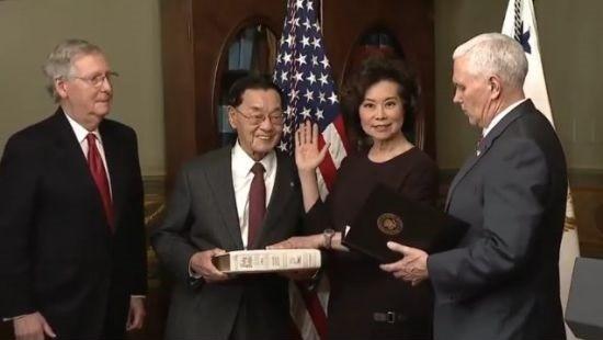 """赵小兰:我不把自己当华盛顿的""""局内人"""""""