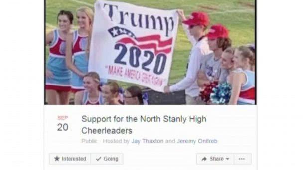 美国一高中啦啦队被集体留校察看 只因支持特朗普