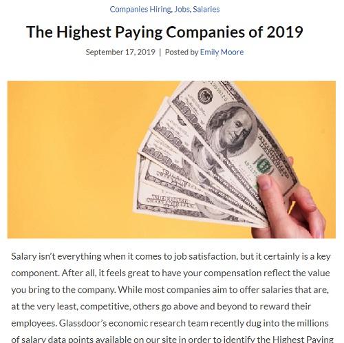全美Top25的最高薪资公司 越看越不像话…