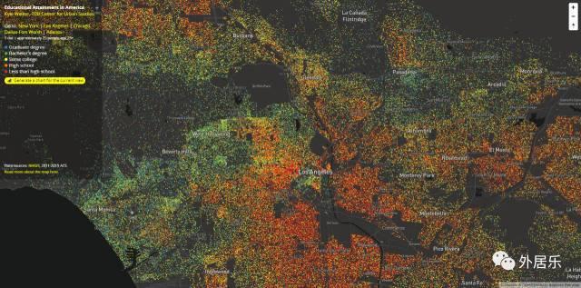 美国受教育程度最高的居民都住哪里?一张教育地图带你看清!