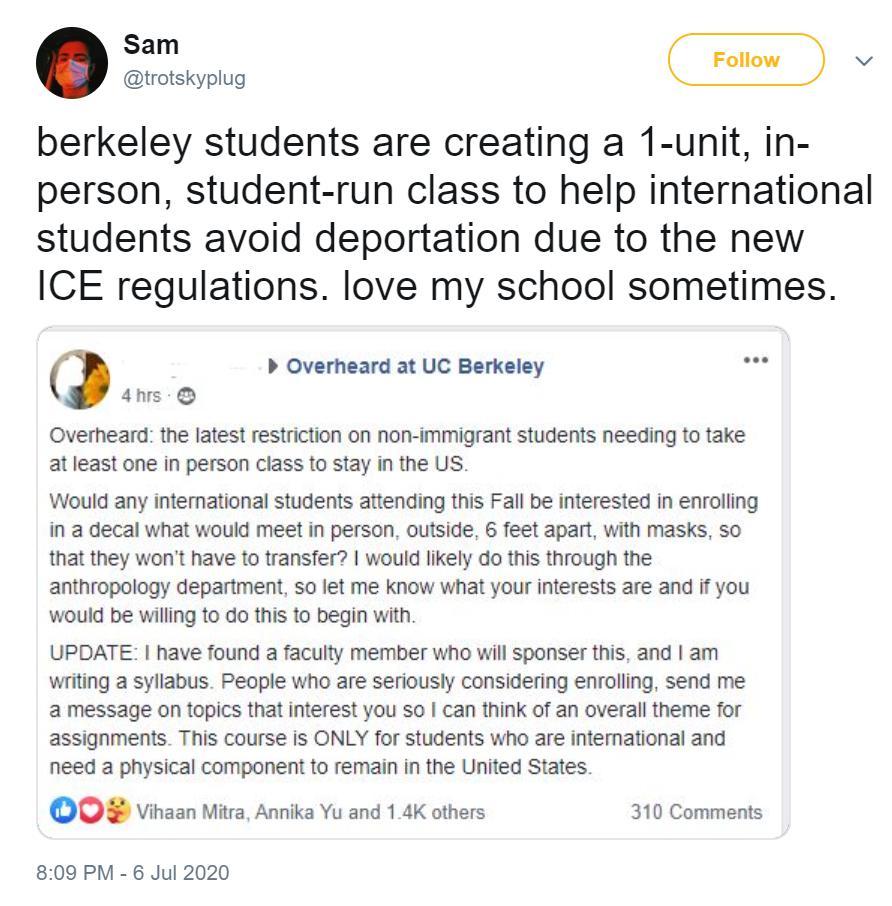 """为避免遭新规驱逐,美国数百名留学生计划""""上假课"""""""