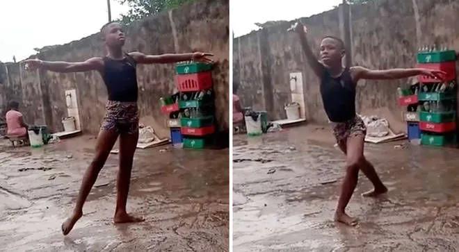 非洲小弟弟雨中跳芭蕾,居然被纽约芭蕾剧院看中了!我又相信梦想了!