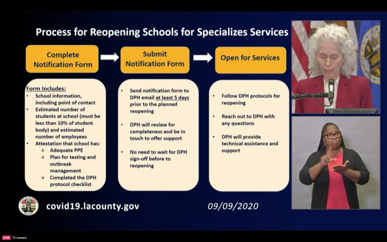 洛杉矶县学校正在制定开放计划 圣盖博谷、Alhambra等学区允许10%学生返校上课