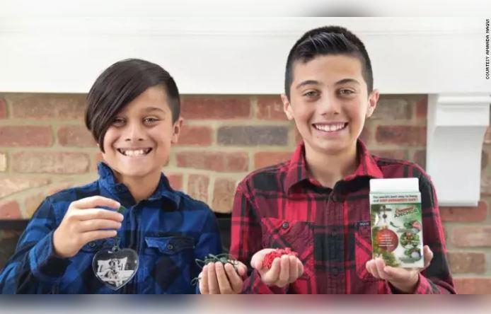 """12岁小兄弟发明""""圣诞树神器"""",靠它大赚25万美金"""