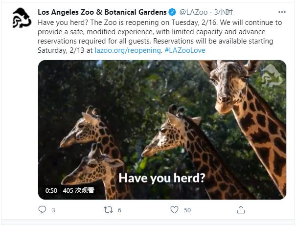 洛杉矶动物园下周重开!小伙们快来提前预订吧~
